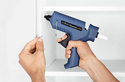 Steinel Heißklebe-Pistole Gluematic 5000, Ladestation, Abtropfschale, kabellos, inkl. 5 Klebesticks 11 mm und 2 Düsen