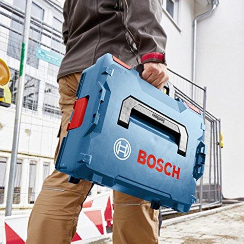 Bosch Professional Koffersystem L-BOXX 136 (Ladevolumen: 14,7 Liter, max. Belastung: 25 kg, Gewicht: 1,9 kg, Material: ABS Plastik, PA6 Kunststoff), Blau, Rot